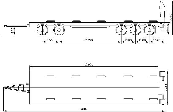 60. Распределение нагрузки на дорогу, кг через шины передних...